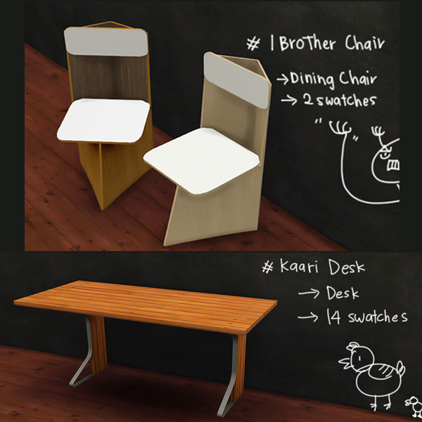 Dining Set, Desk and More by MegHewlett