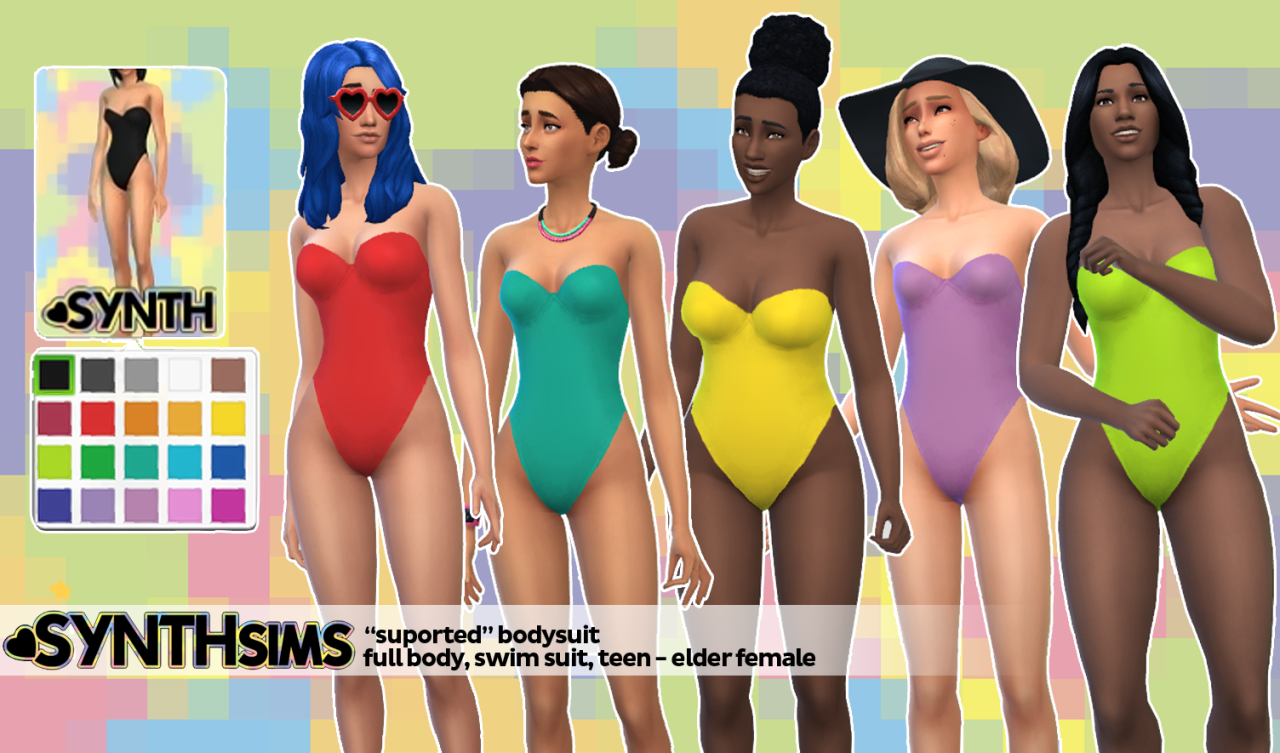 Supported Bodysuit for Teen - Elder Females by SynthSims