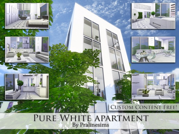 Pure White Apartment by Pralinesims