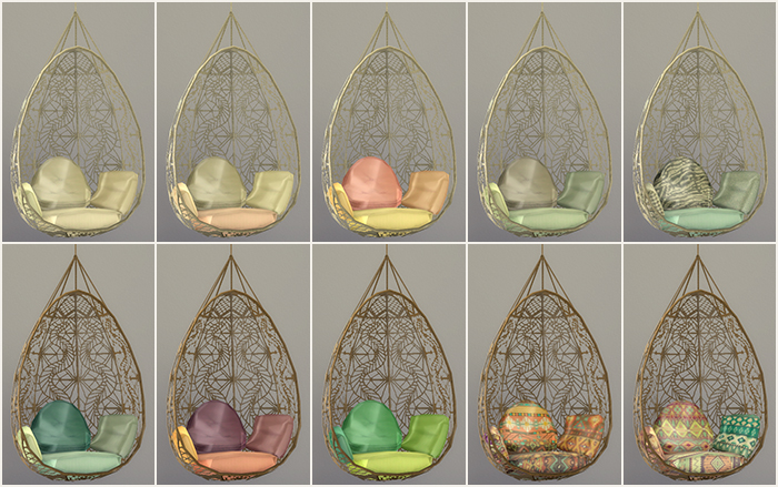 TS3 Wonderfully Woven Hanging Chair Recolors by Simsrocuted