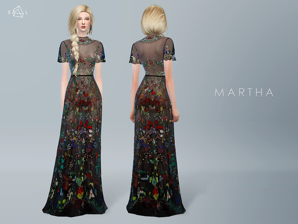Embroidered Gown MARTHA by starlord