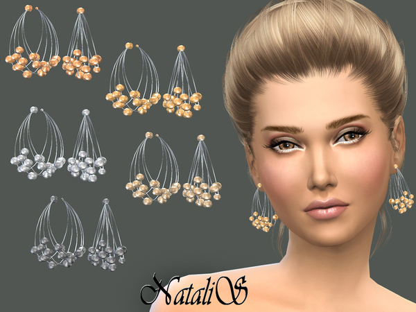 NataliS_Multilayer metal wire earrings