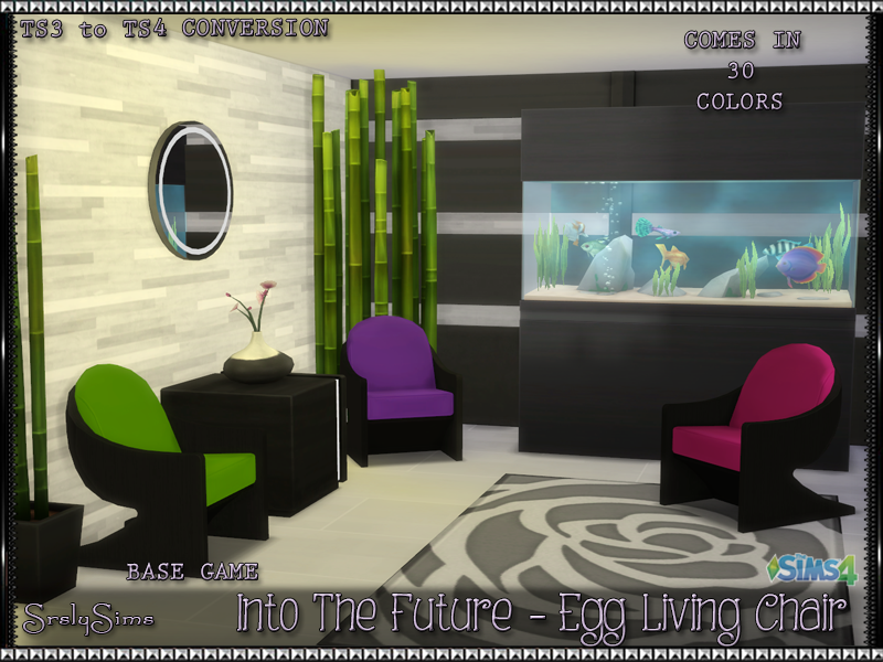 Into the Future Egg Living Chair by srslysims