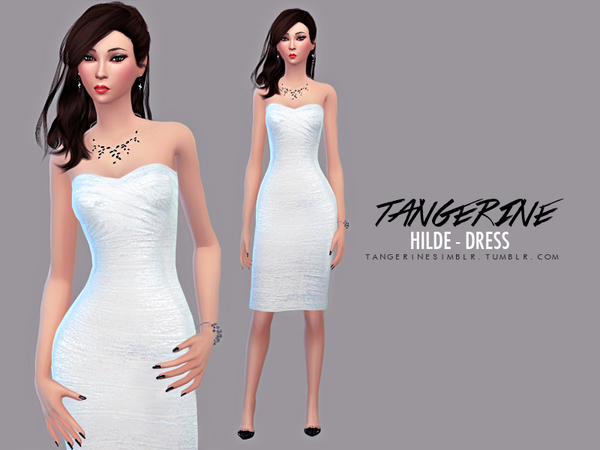 Hilde - Dress by tangerinesimblr