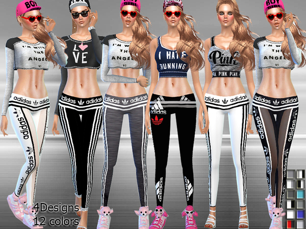 Adidas Sports Low-Rise Leggings With Transparency by Pinkzombiecupcakes