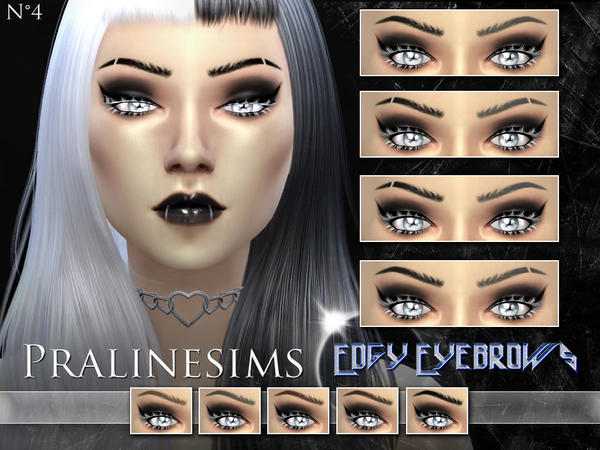 Edgy Eyebrows by Pralinesims