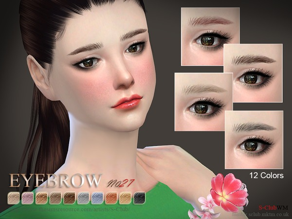 S-Club WM thesims4 Eyebrows27 F