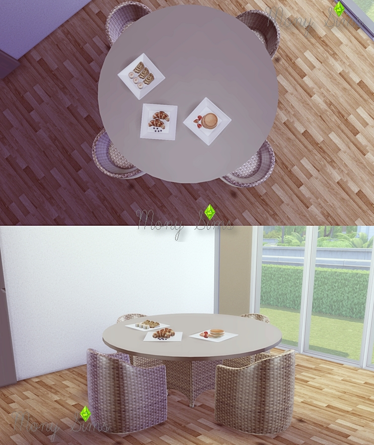 Conversion TS2 - TS4 Wicker Dining Set by Mony Sims