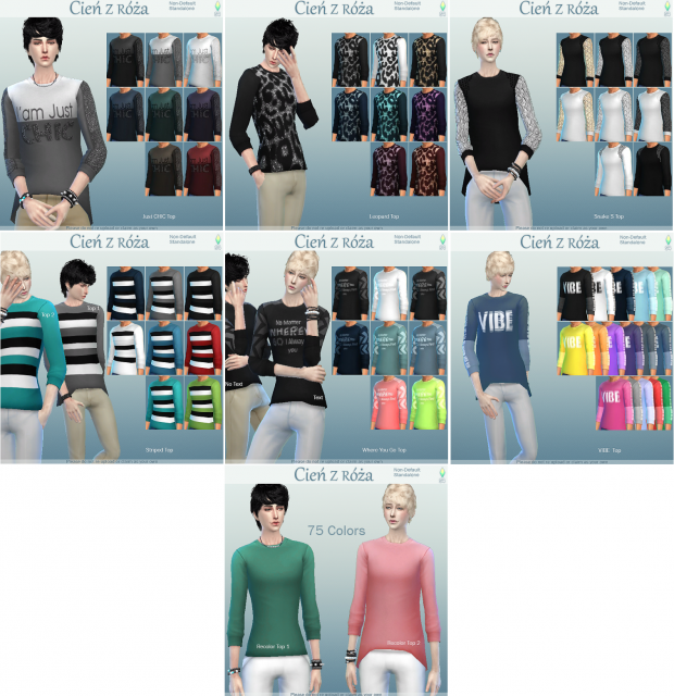Boys Tops and Simple Recolors от Cie z ra