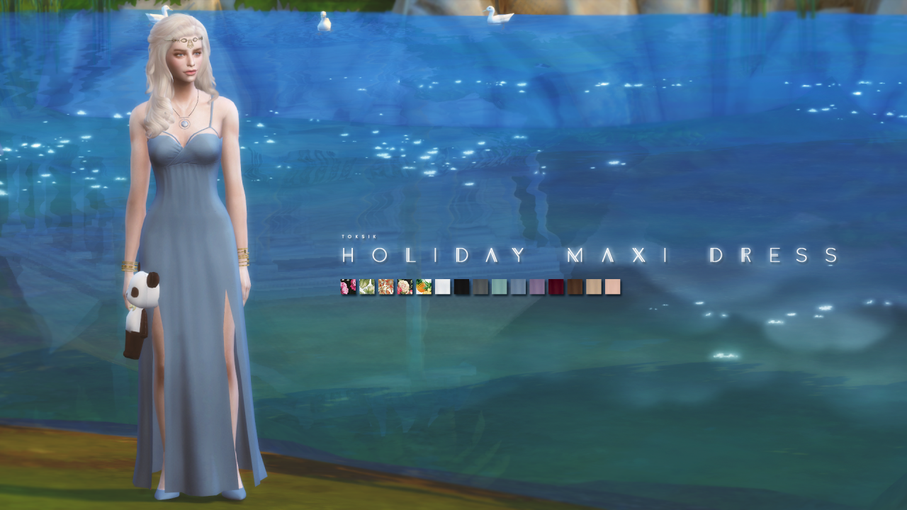 Holiday Maxi Dress by TokSik