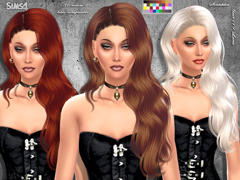 Hair s19 Lana BY SintikliaSims