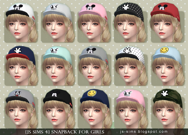 Snapback For Girls от JS SIMS 4