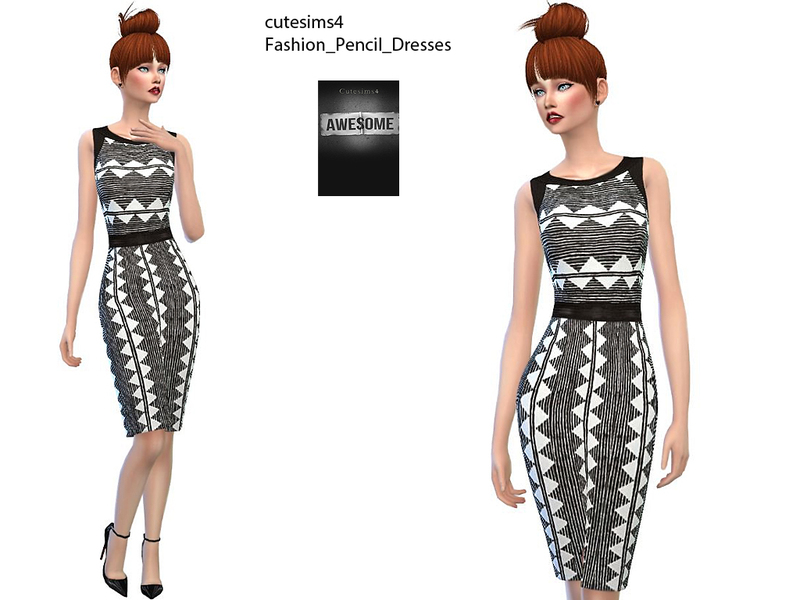 fashion_pencil_Dress_Set BY sweetsims4