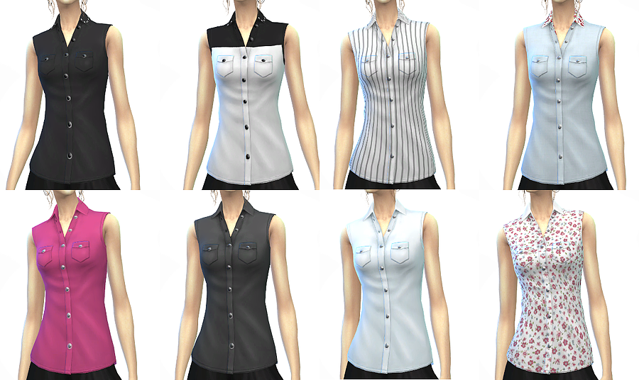 Sleeveless Shirts for Females by Chiissims