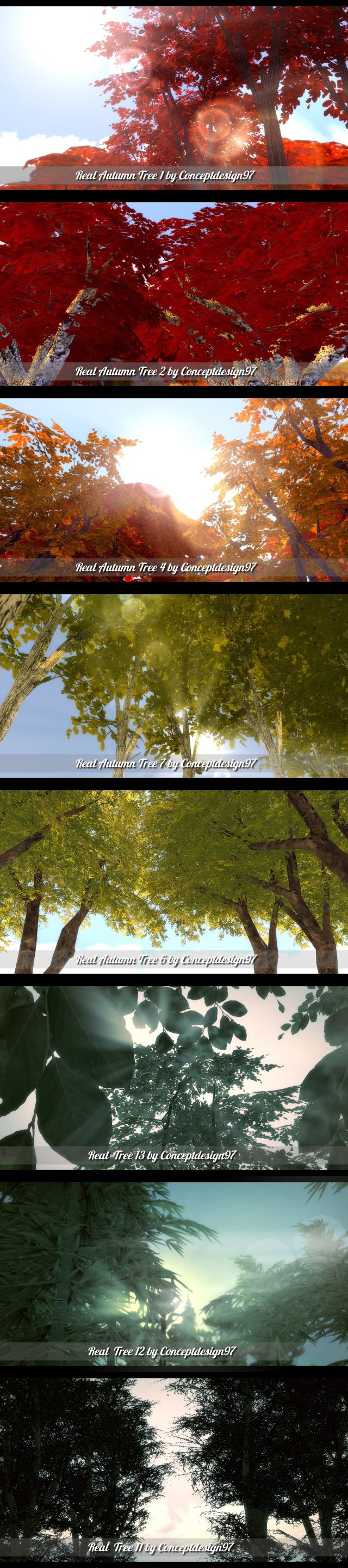 Outdoor Pack 4 - 7 Real Autumn Trees (+ Bonus Pack) by ConceptDesign97