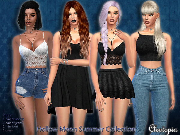 Set38 - The Hollow Moon Summer Collection by Cleotopia