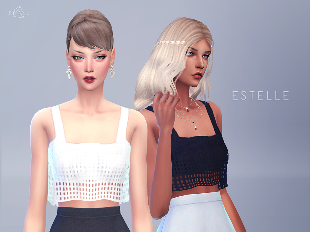 Estelle Cropped Tank for Females by StarlordSims