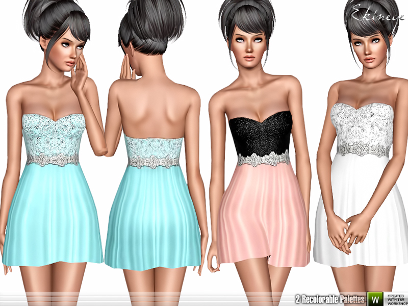 Little Strapless Dress by ekinege