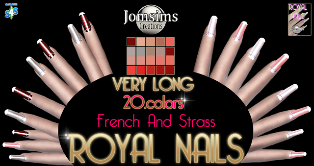 Royal nails french and strass by Jomsims