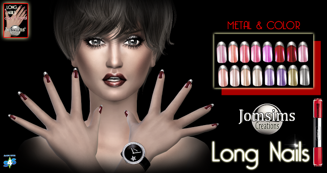 Metal ongles long by Jomsims