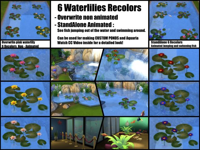 Waterlily Recolor + Animated Fish by Bakie