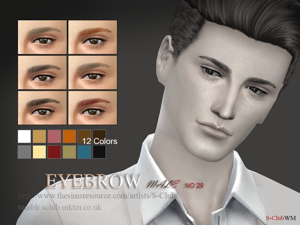 S-Club WM thesims4 Eyebrows29 M