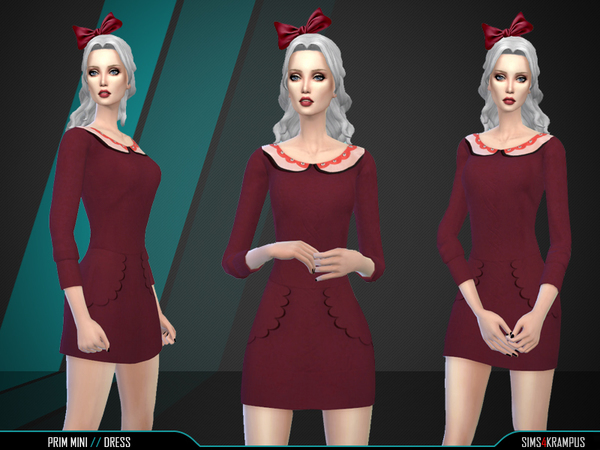 Prim Mini Dress by SIms4Krampus