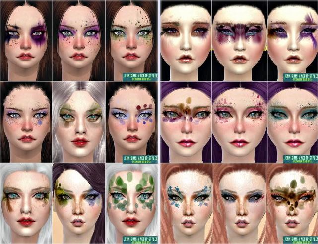 Makeup Styles Disco Diva Fantasy EyeShadow Male /Female (Alien/Humans) by JenniSims