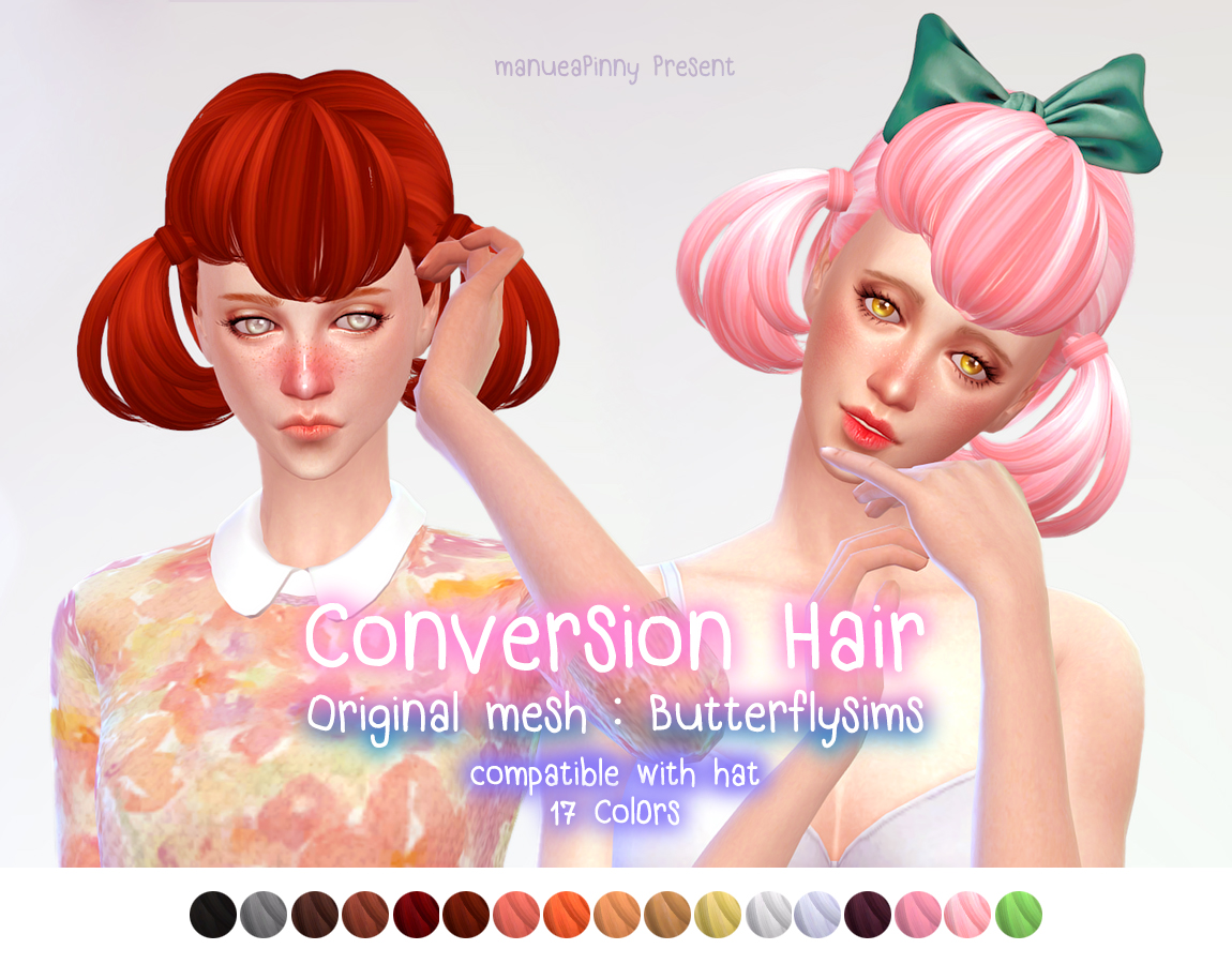 ButterFly Sims Hair 119 Conversion от ManueaPinny