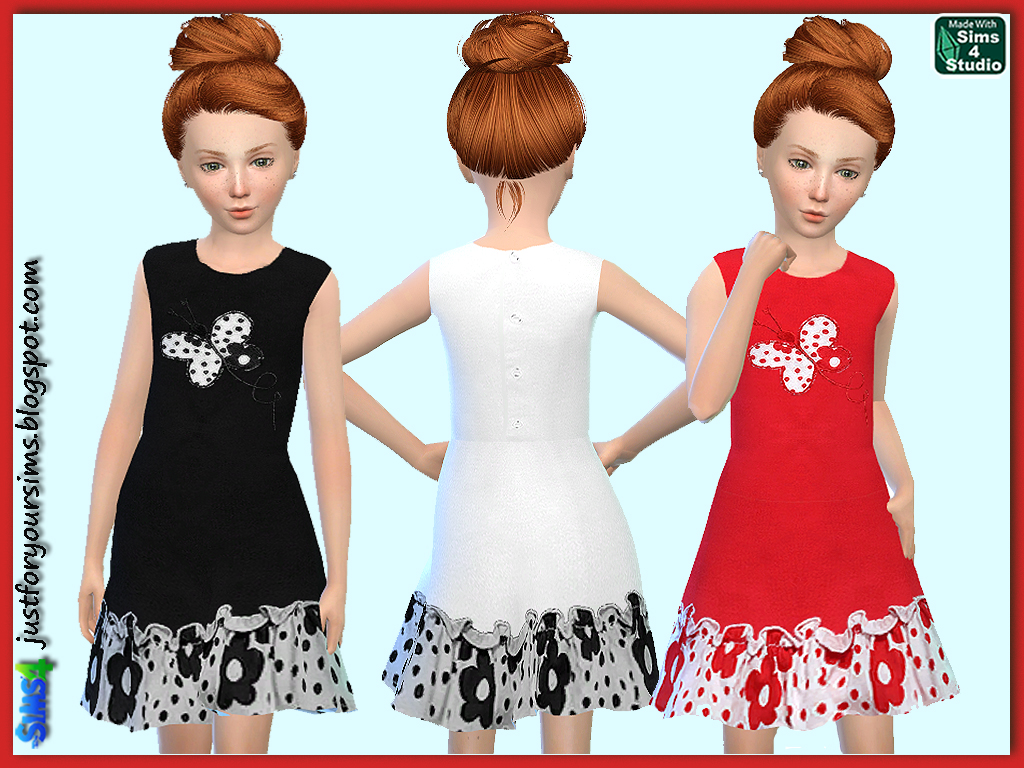 Dress with Butterfly for Girls от Gaby Wimmer