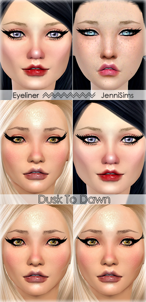 Eyeliner Dusk To Dawn (5 Styles) by Jennisims