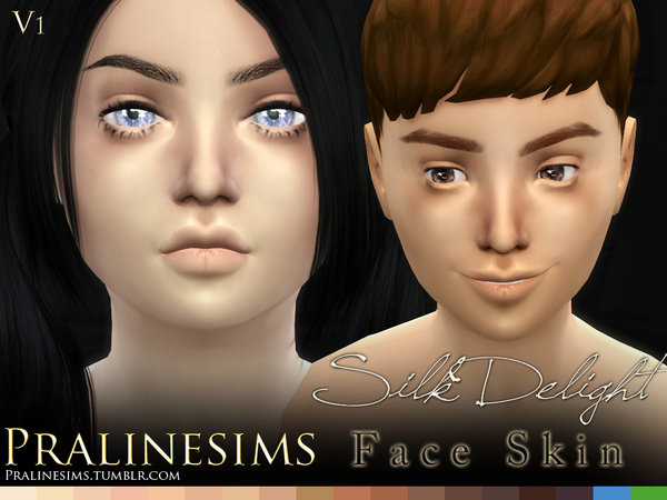 Silk Delight~ Family Skintones (+Body Freckles) by Pralinesims