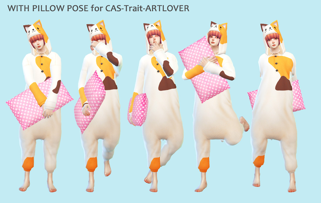 PILLOW L&R + POSE set by imadako