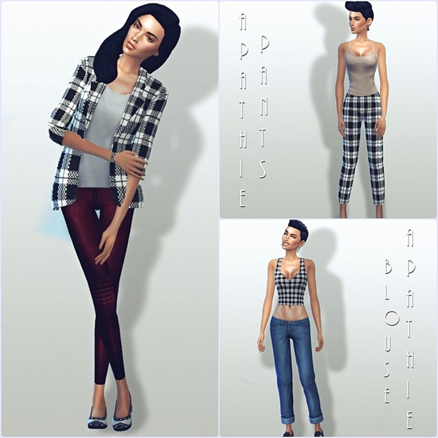 """Krate"" set: jacket, pants & top by Apathie"