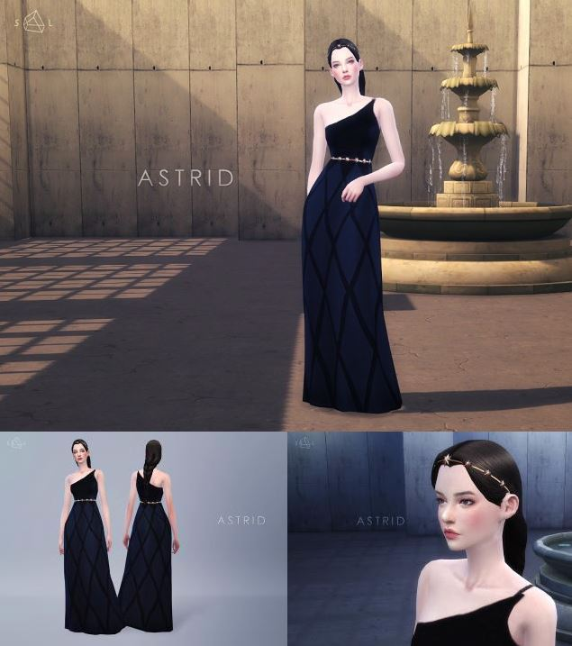 Black Gown Set ASTRID by starlord