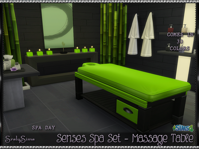 'Spa Day' Massage Table by Srslysims