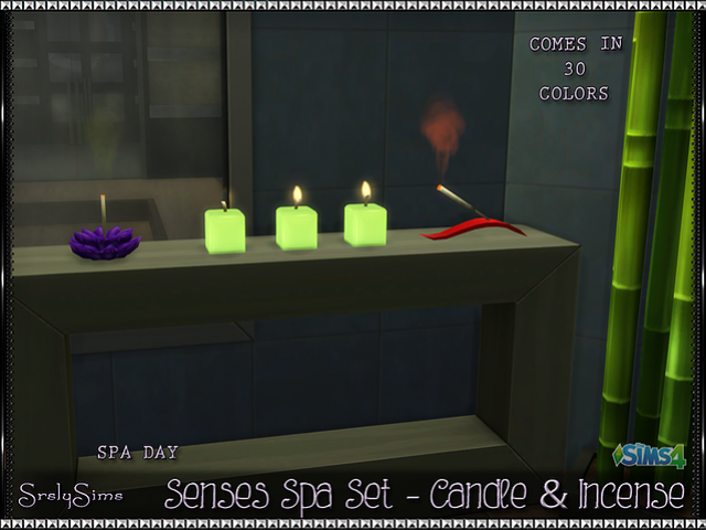 'Spa Day' Incense & Candles by Srslysims
