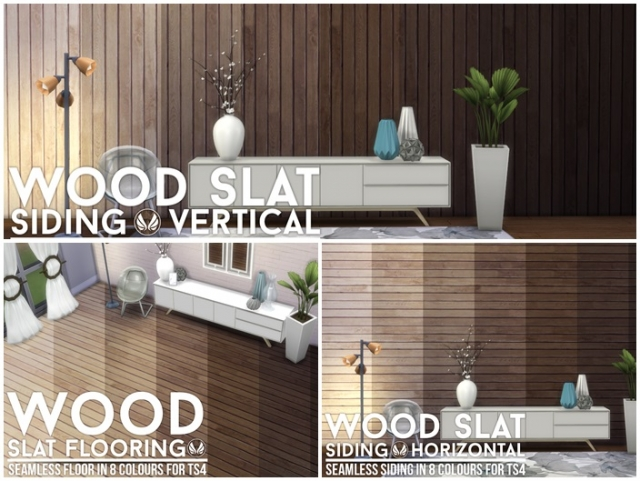 Wood Slat Flooring and Walls by Peacemaker IC