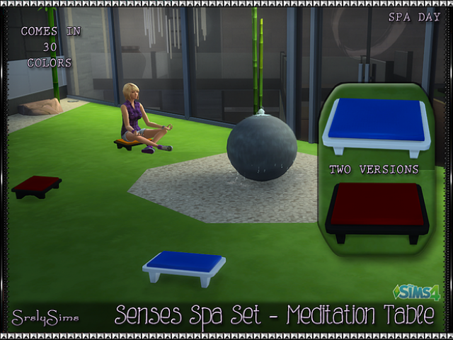'Spa Day' Meditation Table by Srslysims