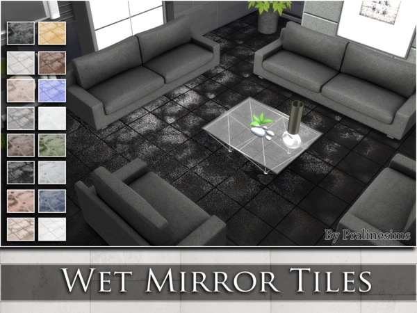 Wet Mirror Tiles by Pralinesims