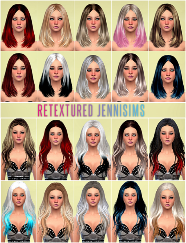 SkySims от Sets of Hairs SkySims retextured by Jennisims