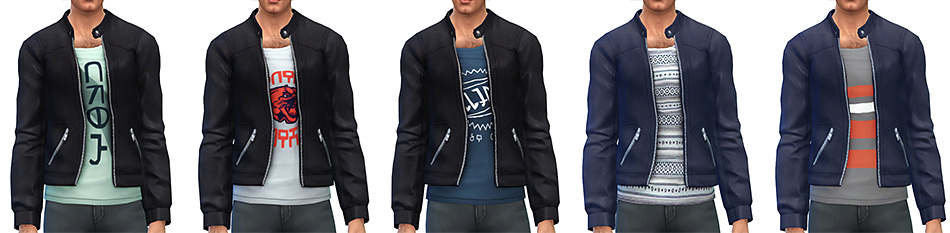 Simsontherope  Clothing, Male : Solitaire Leather Jacket by Rope