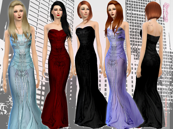 SAAB Beaded Gown by Simsimay
