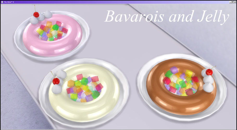 Bavarois and Jelly by LolinekoSims4