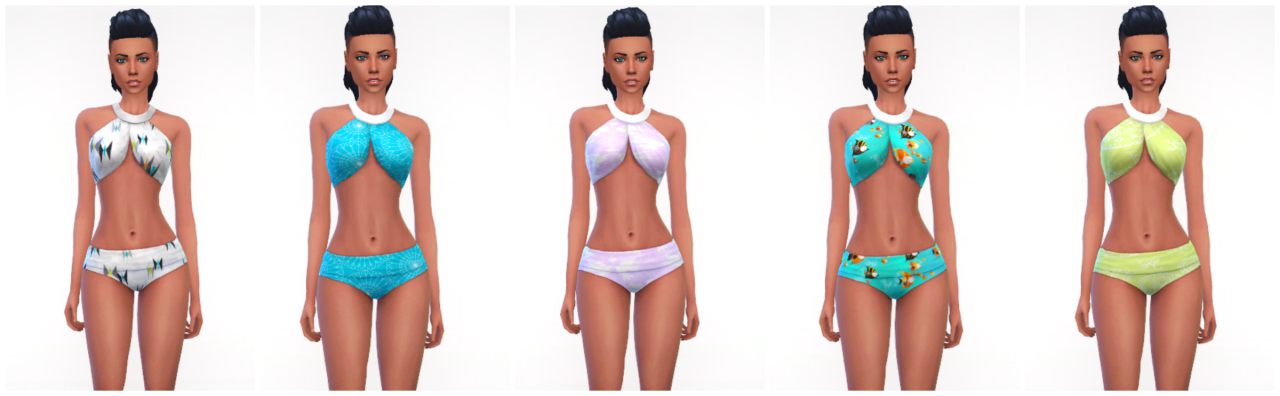 Spa Day Bathing Suit Recolors by Fallenstar1119