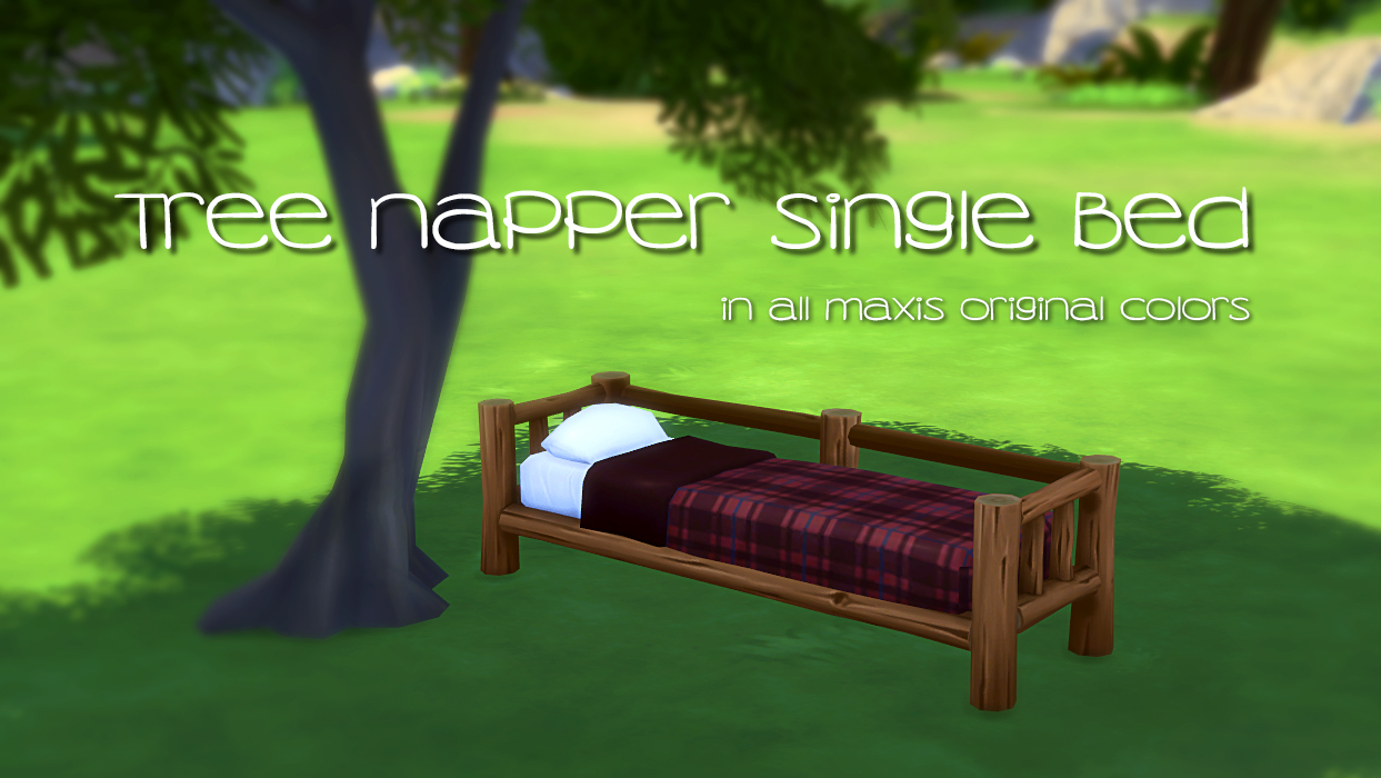 Tree Napper Single Bed in All Maxis Colors by PeachAndHerPan
