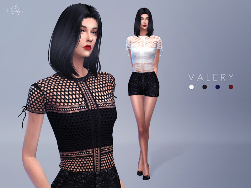 Panelled Lace Tee VALERY  BY starlord