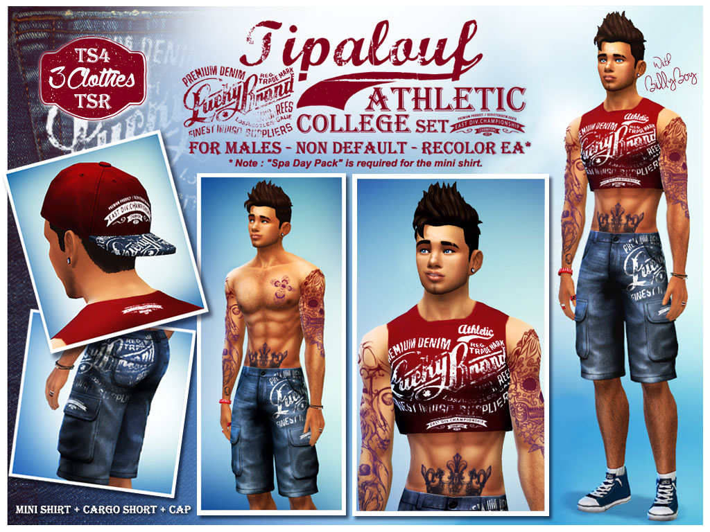 Athletic College Set by Tipalouf2