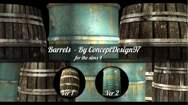 Barrels (2 versions) by conceptdesign97sims
