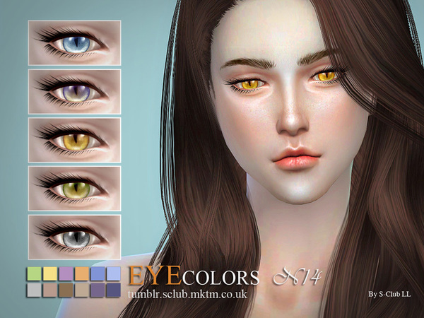 S-Club LL thesims4 eyecolors 14